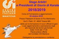 Corso per Arbitri e Presidenti di Giuria di Karate