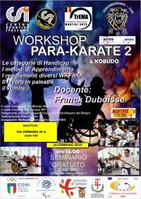 Workshop di Para-Karate & Kobudo con Franck Duboisse a Mantova