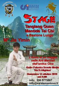 Stage di Tanglang Quan Mantide Tai Chi con il M° Jia Yimin