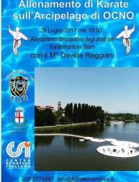 Allenamento dimostrativo di Karate sull'Arcipelago di Ocno (MN)