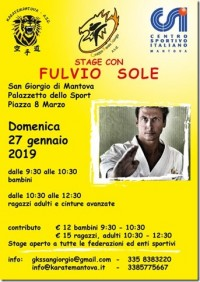 Stage di Karate Shotokan con il M° Fulvio Sole