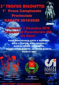 3° Trofeo Rigoletto - 1a Prova Campionato Prov. Karate 2019/20