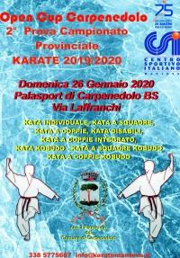 Open Cup Carpenedolo - 2a Prova Campionato Prov. Karate 2019/20